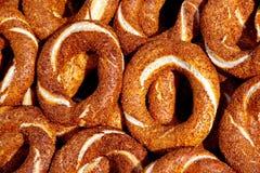 Bagels. Fresh and crisp Turkish bagels with sesame seeds Stock Images