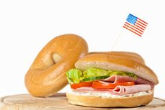 Bagels With American Flag Royalty Free Stock Photo