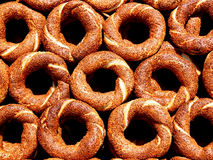 Bagels as background Stock Photo