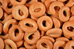 Bagels background. Top view of bagels as background texture Stock Images
