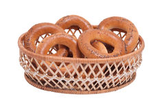 Bagels in the basket Stock Photo