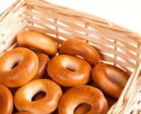 Bagels in the basket Stock Images