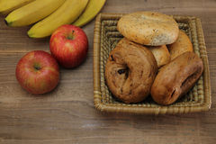 Bagels in a basket Royalty Free Stock Images