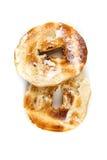 Bagels beurrés grillés blancs simples Photographie stock libre de droits