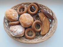 Bagels, biscoitos, anéis de espuma Imagem de Stock
