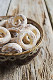 Bagels in a bowl Royalty Free Stock Images