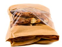 bagels in a brown paper bag Royalty Free Stock Photo