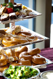 Bagels during a catered event. A brunch platter with bagels Royalty Free Stock Images