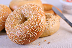 Bagels Close-up Royalty Free Stock Photos