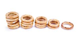 Bagels com sementes de papoila Foto de Stock Royalty Free