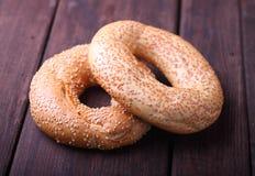 Bagels com sementes de sésamo Imagem de Stock Royalty Free