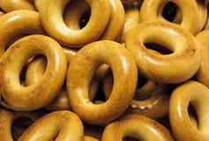 Bagels cozidos close up Imagem de Stock