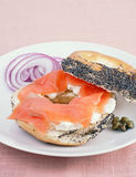 Bagels and cream cheese Stock Photo