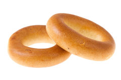 Bagels d'isolement Images stock