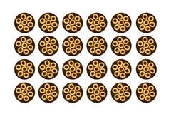 bagels de fond Photographie stock libre de droits