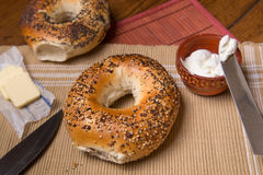Bagels de NY photographie stock