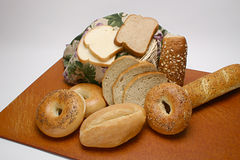 Bagels de Rolls do pão Imagem de Stock Royalty Free