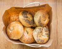 Bagels do estilo de New York Fotografia de Stock