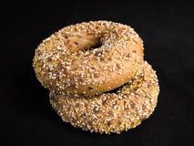 bagels flaxseed Στοκ Εικόνες