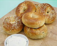 Bagels frais assortis Images stock
