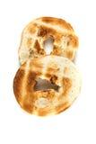 Bagels grillés blancs simples Images libres de droits
