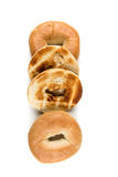 Bagels grillés blancs simples Image libre de droits