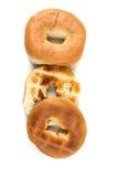 Bagels grillés blancs simples Photos stock