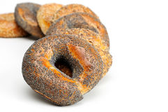 Bagels Isolated on White Royalty Free Stock Photos