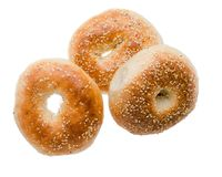 Bagels at white background Stock Photography