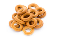 Bagels isolated on a white background. Royalty Free Stock Image