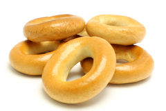 Bagels isolated on a white background Stock Images