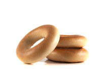 Bagels isolated on white background (three). Stock Photo