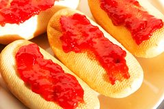 Bagels with jam Royalty Free Stock Photography