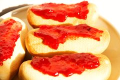 Bagels with jam Royalty Free Stock Image