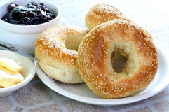Bagels and Jam Royalty Free Stock Photo