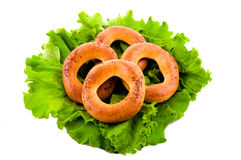 Bagels and lettuce Royalty Free Stock Image