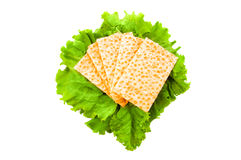 Bagels and lettuce Royalty Free Stock Photo