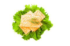 Bagels and lettuce Royalty Free Stock Photography