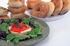 Bagels and lox Royalty Free Stock Photography