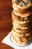 Bagels pile Stock Photography