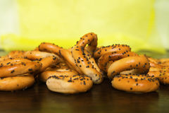 Pastries with poppy seeds. Bagels with poppy,baking Stock Image