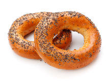 Bagels With Poppy Seeds Stock Image