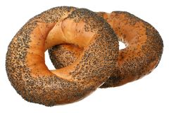 Bagels with poppy seeds Stock Photography