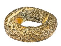Bagels with poppy seeds Stock Images