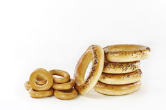 Bagels with poppy seeds and dried Stock Image
