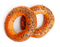 Bagels With Poppy Seeds Stock Photos
