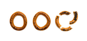 Bagels with poppy seeds Royalty Free Stock Images