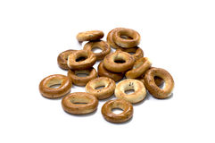 Bagels with poppy on a white background Stock Image