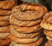 Bagels pretzel obwazanek Stock Photos