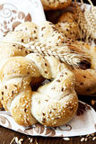 Bagels with Seeds Stock Images